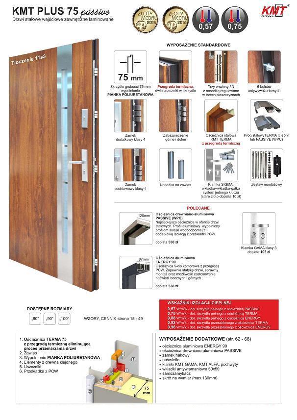 STM KMT PLUS 75 passive - Drzwi zewnętrzne
