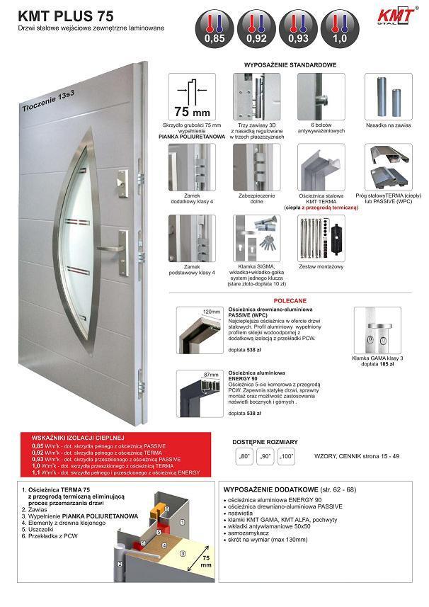 STM KMT PLUS 75 - Drzwi zewnętrzne